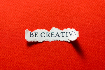 Be creative red