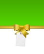 Grüne Karte mit Schleife