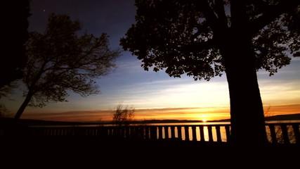 Tropical scene - Sunset