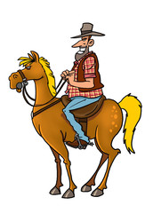 cowboy rider on the horse