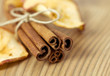 Cinnamon and Dried Apple Slices