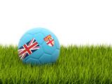 Football with flag of fiji