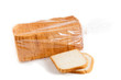 The cut bread isolated on a white background