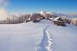 Trail to the mountain village