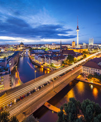 Berlin, Germany Skyline Scene