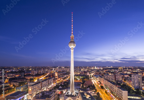 Foto op Canvas Berlijn Berlin, Germany Skyline