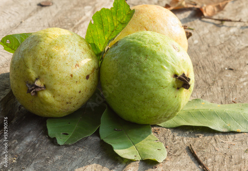 Guava green and Yellow , ripen and raw