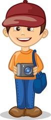 Мультипликационный персонаж - фотограф