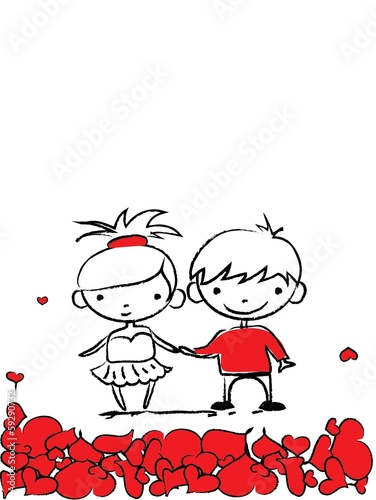 valentine-bazgroly-chlopiec-i-dziewczyna-wektor
