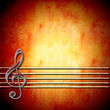 musical background with treble clef and  staff , blank