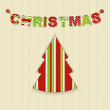 Christmas letter bunting background