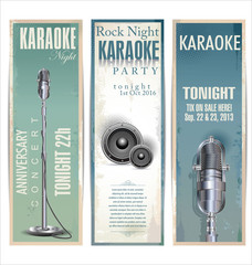 Karaoke party retro background