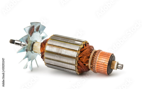 Electric motor rotor isolated - 59293347