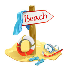 beach items with the pointer