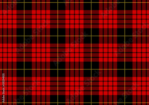 Illustration motif tartan