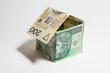 Koncepcja domu z pieniędzy