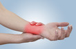 Acute pain in a woman wrist