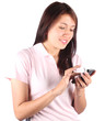 Girl wit a smartphone