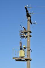 Umspannstation Strommast