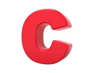 Red 3D Letter C.