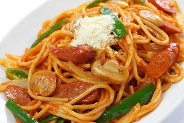 japanese pasta dish, spaghetti naporitan