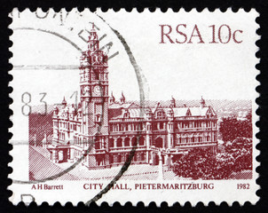 Postage stamp South Africa 1983 City Hall, Pietermaritzburg