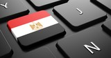 Egypt - Flag on Button of Black Keyboard.