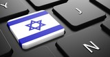 Israel - Flag on Button of Black Keyboard.