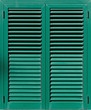 Window with green shutters, Closeup view - 59295901
