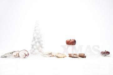 christmas tanne apfel zitrone kürbis