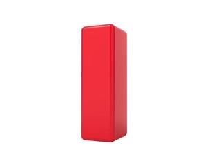 Red 3D Letter I