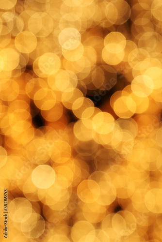 abstract christmas gold lights bokeh background