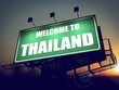 Welcome to Thailand Billboard at Sunrise.