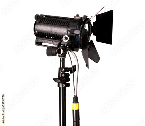Studio Spotlight or Stage Light on White Background