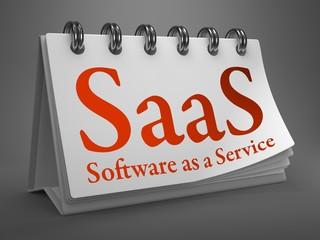Desktop Calendar with SAAS Concept.