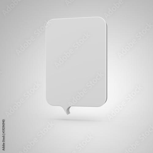 Big Banner - vertical white