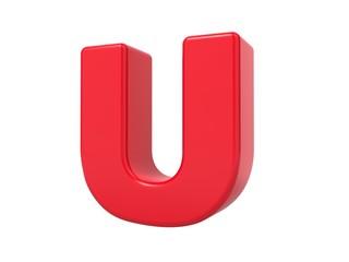 Red 3D Letter U.