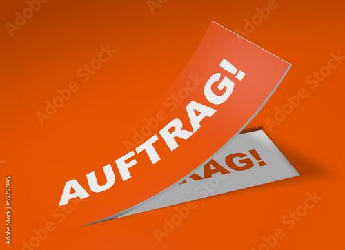 3D Etikett Orange - Auftrag