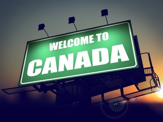 Welcome to Canada Billboard at Sunrise.