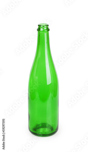 close up of a green champagne bottle