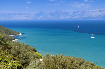 North coast of Corfu island in Greece