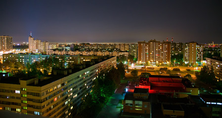 Residential District at Night
