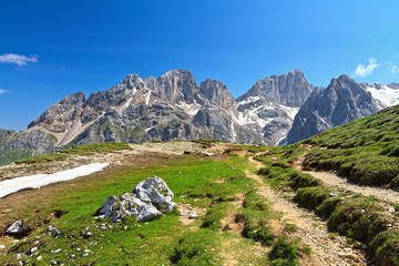 Dolomiti - Marmolada mount from San Nicolò pass