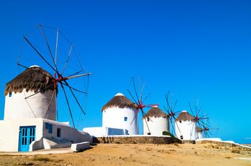 Beautiful windmill on Mykonos island, Greece