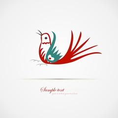 red blue bird