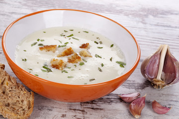Garlic soup.