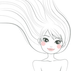Woman Line Art Illustration