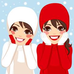Red White Winter Friends