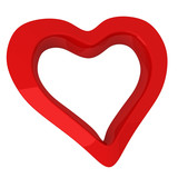 Red heart - symbol of love and Valentine day