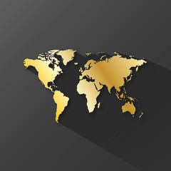 WORLD MAP Icon (worldwide global business travel button)